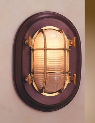 Picture of Wall light on mahogany frame