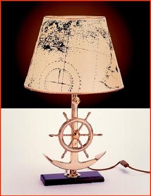 Picture of Candeeiro com ancora e roda de leme