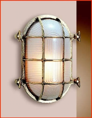 Picture of Oval Bulkhead Light with two fixing holes
