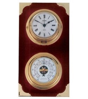 Picture of Nautical weather station clock-barometer