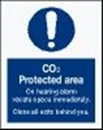 Picture of IMO Sign-CO2 protected area 15x20