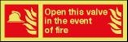 Fire sign-Open this.. 30x10