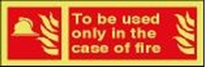 Fire sign-To be used.. 30x10