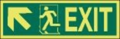Picture of IMO Sign-exit up sx 30x10