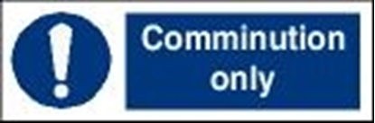 Picture of Garbage Sign-comminution only 30x10