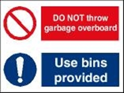 Picture of Garbage Sign-do not throw garbage/use bins..30x20