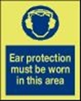 Safety sign-Ear protection..15x20