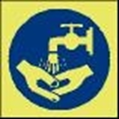 Picture of Safety Sign-now wash hands 15x15