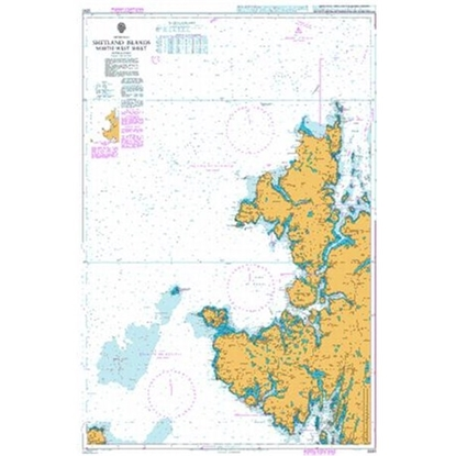 Picture of BRITISH ISLES / SHETLAND ISLANDS NORTH-WEST SHEET