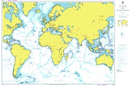 Picture of  A PLANNING CHART FOR THE ATLANTIC AND INDIAN OCEANS