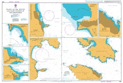 Picture of  GREECE,PLANS ON THE SOUTH AND EAST COASTS OF PELOPONNISOS