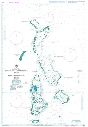INDIAN OCEAN,MALDIVES-SHEET 4,SOUTH MAALHOSMADULU ATOLL ETC