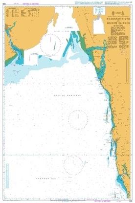 BAY OF BENGAL -MYANMAR, RANGOON RIVER TO HEINZE ISLANDS
