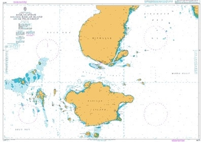 Picture of Basilan Strait including Basilan Island and the Pilas Group