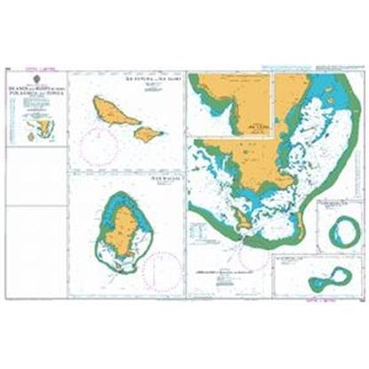 SOUTH PACIFIC OCEAN / Islands & Reefs between Fiji-Samoa & Tonga