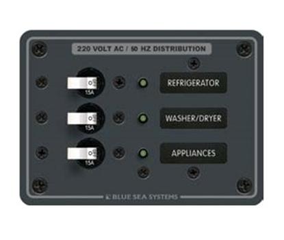 Quadro eléctrico 3 circuitos - 8A