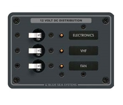 Picture of Electric panel 3 circuits - 12/24V - 15A