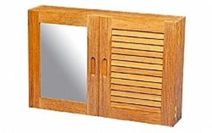 Picture of Armário com uma porta persiana e uma com espelho