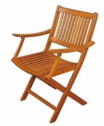 Picture of Folding teak armchair