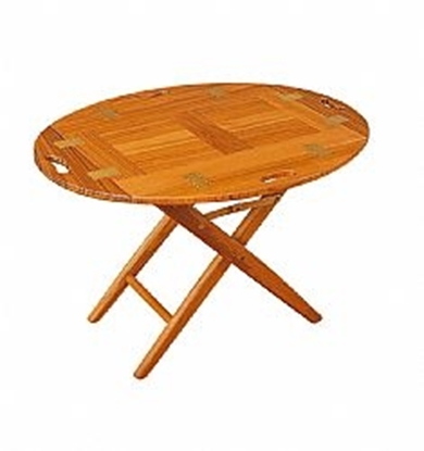 Picture of Teak butlers oval table