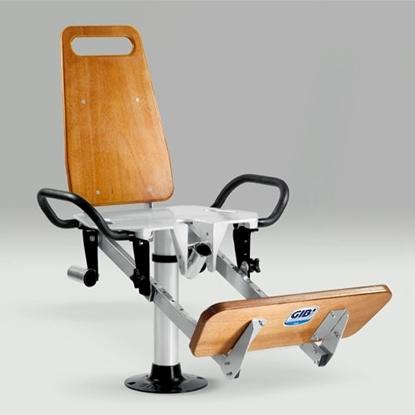 Picture of Cadeira de combate em alumínio e madeira
