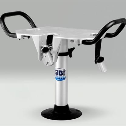 Picture of Cadeira de combate em alumínio com porta canas