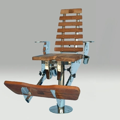 Picture of Stainless steel fighting chair with wood finish
