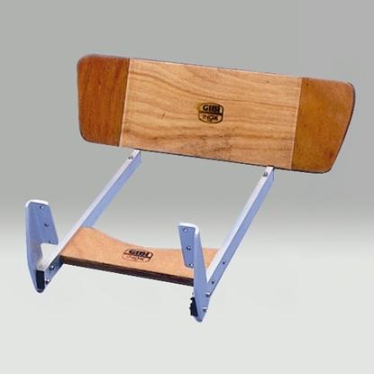Picture of Kit apoia pés em madeira e inox
