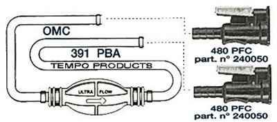 Picture of Pipe for Johnson/ Evinrude with two connectors