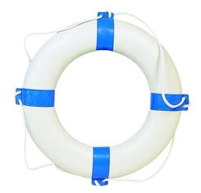 Boia Orca azul e branca