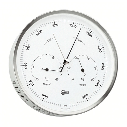 Picture of Baro-termo-hygrometer Steel series