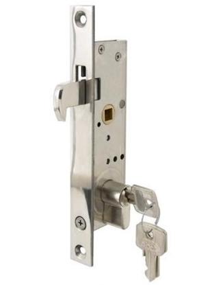 Fechadura p/ porta deslizante com cilindro