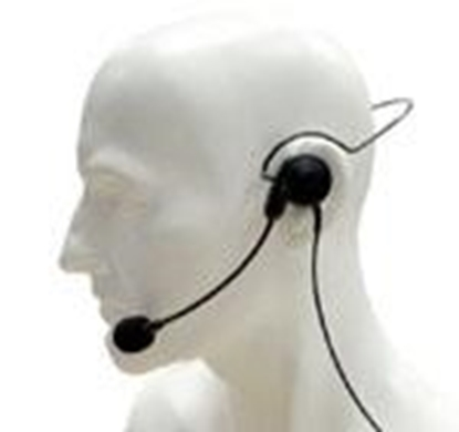 Picture of CHP1/750  headset with in-line PTT and VOX for HT portable radio