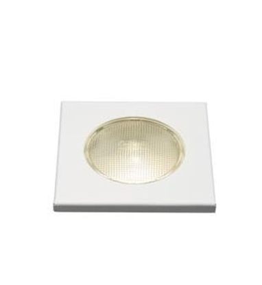 Picture of Square crystal lamp cover - white 10W - 12V/24V