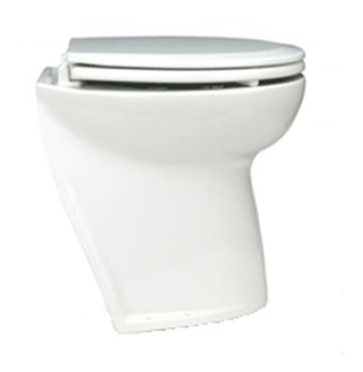 "Sanita eléctrica Deluxe Flush 14"" curva c/ válvula solenóide"