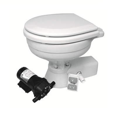 Picture of Quite Flush compact electric toilet with in-take pump
