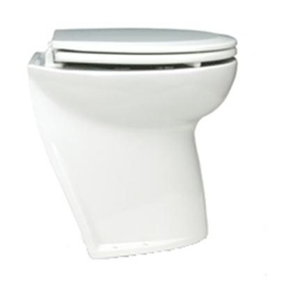 "Sanita eléctrica Deluxe Flush 14"" curva c/ bomba de tomada"