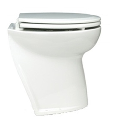 "Picture of Deluxe Flush toilets 17"" slant back w/ intake pump"