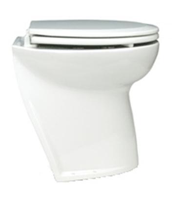 "Sanita eléctrica Deluxe Flush 17"" curva c/ bomba de tomada"