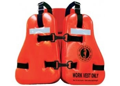 Picture of Mustang type V vinyl dipped work vest stainless steel closures