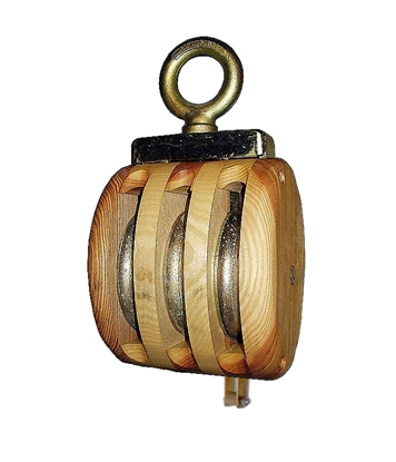 Picture of Wood triple block with swivel eye