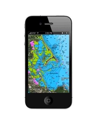 Cartografia móvel para iPhone - lagos e marítima