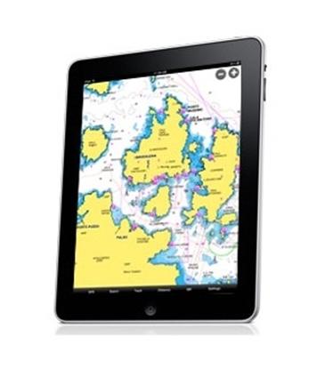 Cartografia móvel para iPad -  lagos e marítima