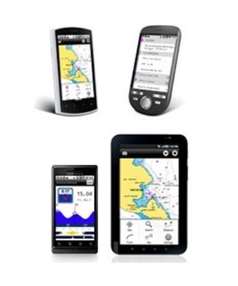 Cartografia móvel para android - lagos e marítima