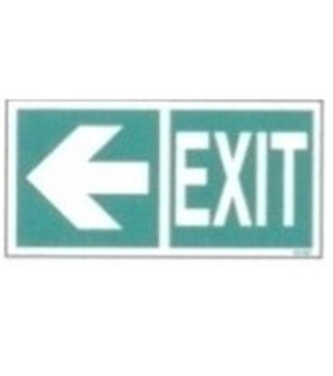 Picture of LLL Sign - exit ( left from here )