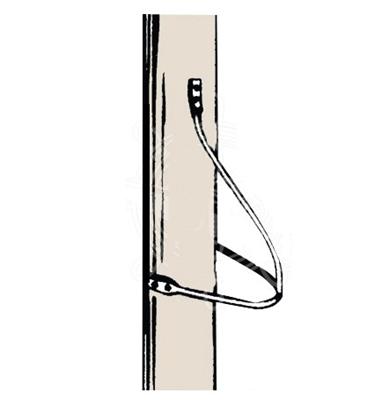 Mast steps made of 6 mm round bars