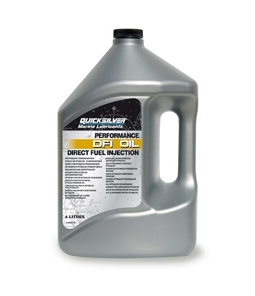 Picture of Quicksilver Optimax DFI 2 stroke outboard engineo oil