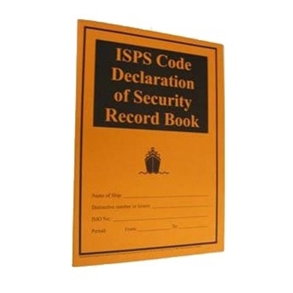 Picture of ISPS Code Declaration of Security Record Book