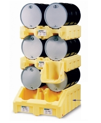 Picture of DRAS 2 - Drum rack and spill sump in one – 2x 200
