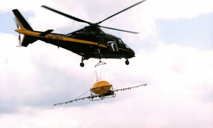 Picture of TC3 helicopter dispersant spray system